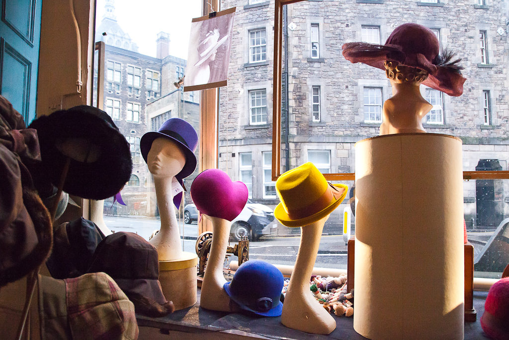 Shop display, window display for shops in Edinburgh
