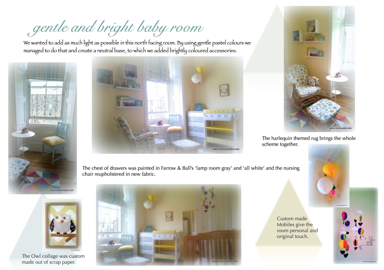 Baby room interior design retail design home staging for Room interior design edinburgh