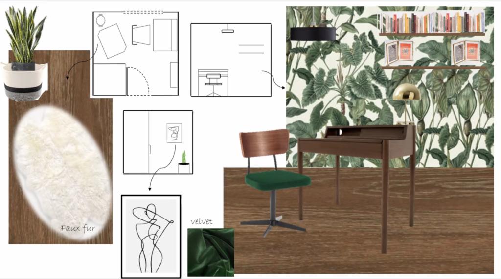 Presentation by Sofi for the interior design course