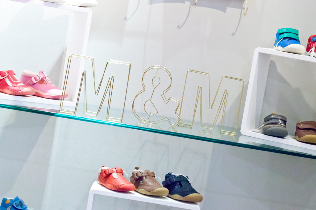 We designed the new Maddie & Marks shoes shops in Edinburgh using gender neutral colours.