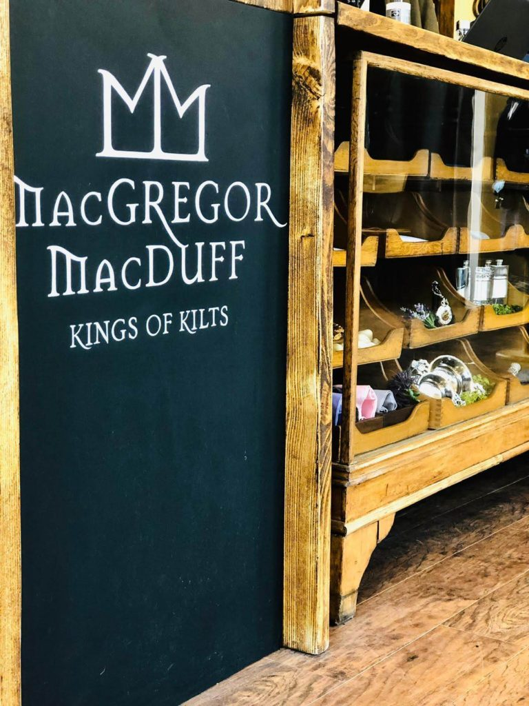 Customised haberdashery cabinet in line with brand identity for this retail store in Glasgow