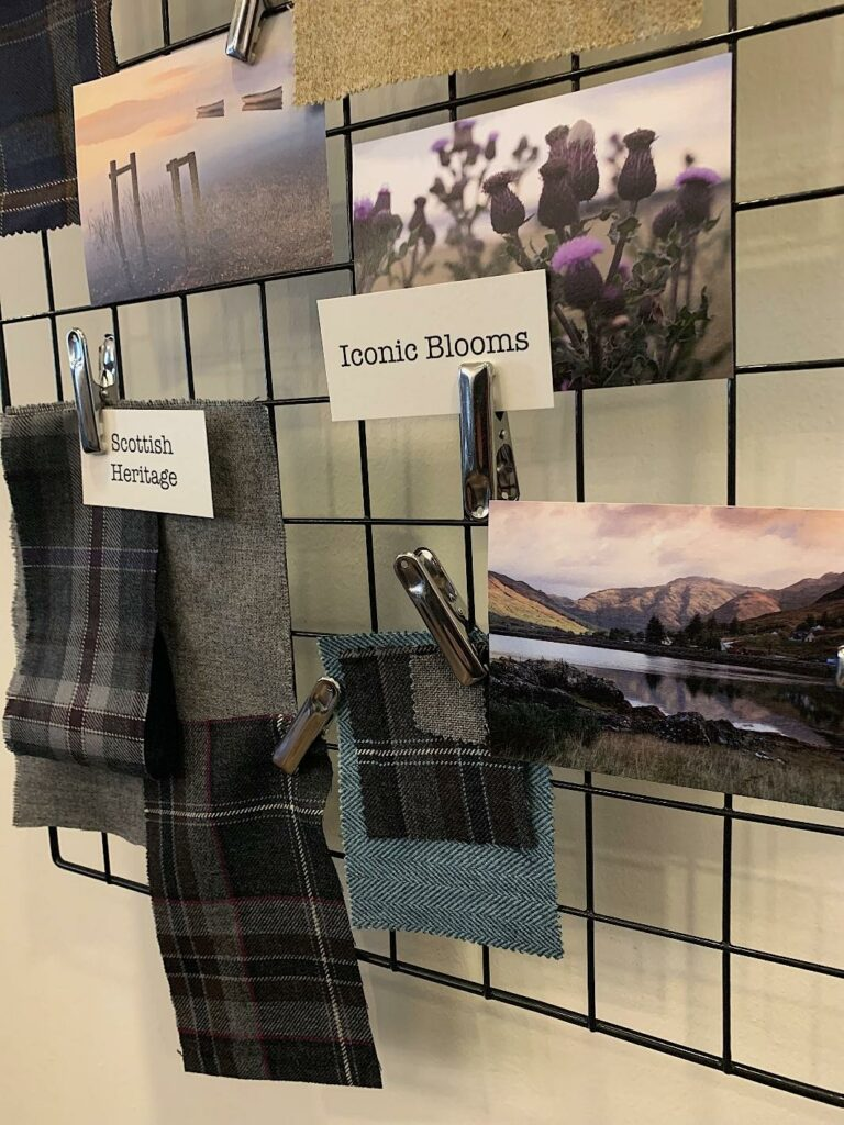 Creating moodboards for retail design in Scotland