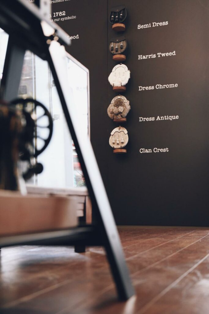 Creative wall display is a main selling point in retail design